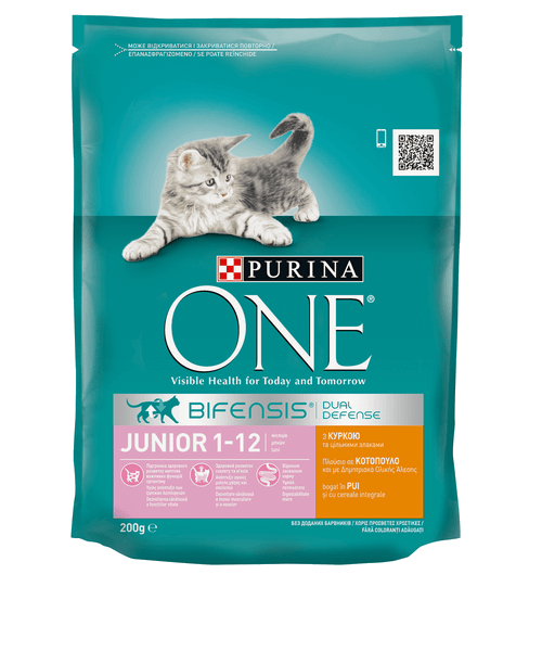 One_Cat_Dry_Junior_Chicken_Whole_Grains_200g_front